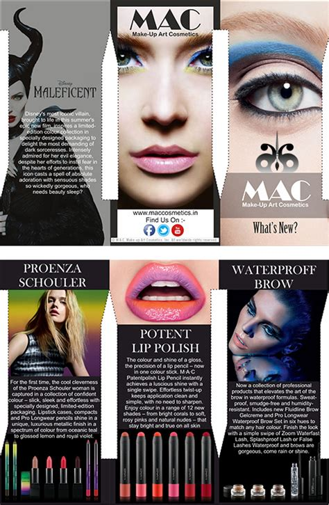 design flyer on mac 2 brochure designing mac cosmetics on behance