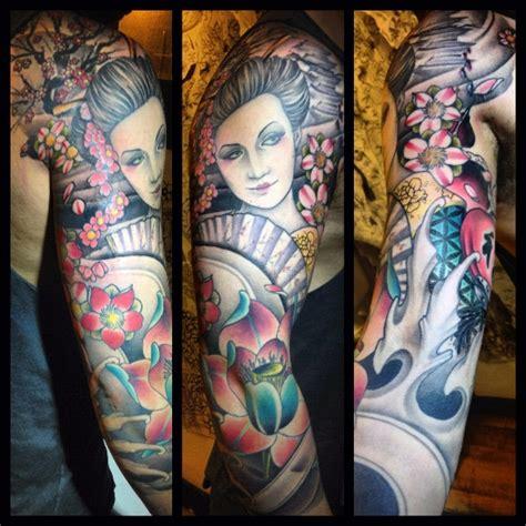 tattoo geisha hombro tatuaje brazo japoneses geisha por custom ink tattoo
