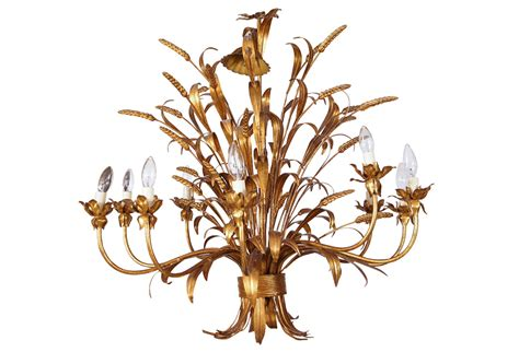 sheaf of wheat 10 light chandelier omero home