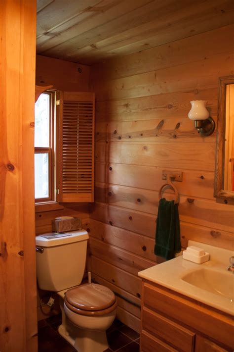log cabin bathroom ideas cabin bathroom update