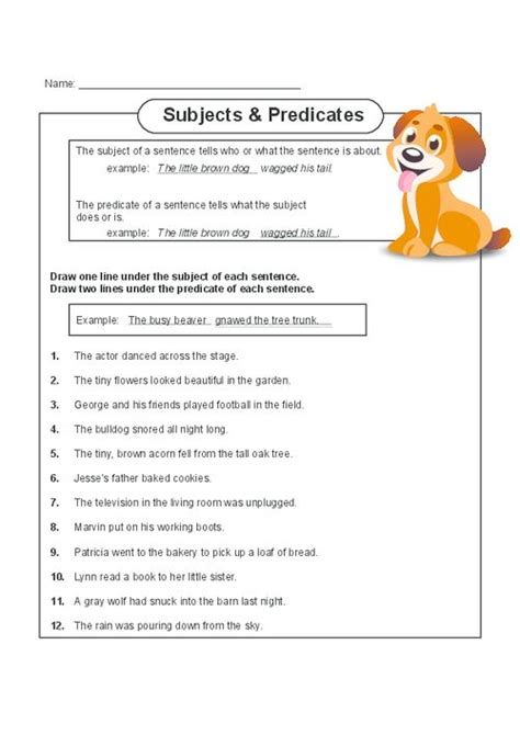 Finding The Subject Of A Sentence Worksheet by This Free Printable Worksheet Will Help Your Child Master
