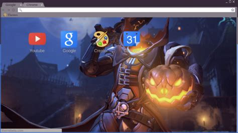 halloween themes chrome overwatch halloween terror event reaper pumpkin skin