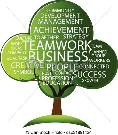 Tree Teamwork Logo Tree For A Company Or Workers Containing The Words Teamwork Development Teamwork Tree Logo Vector Stock Vector Illustration Of Ecology Leafs 34023988