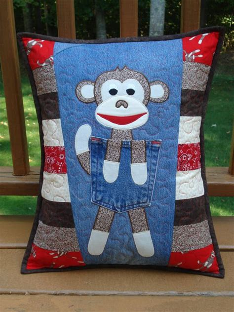 quilted sock pattern pattern for quot clever monkey quot quilted recycled denim jean