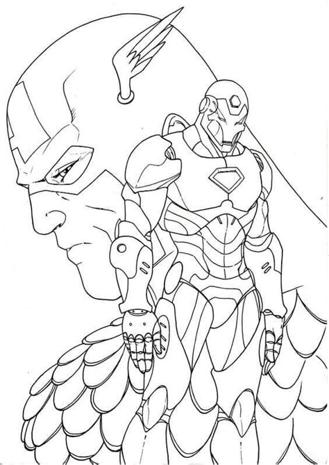 captain america and ironman coloring page 30 printable captain america coloring pages