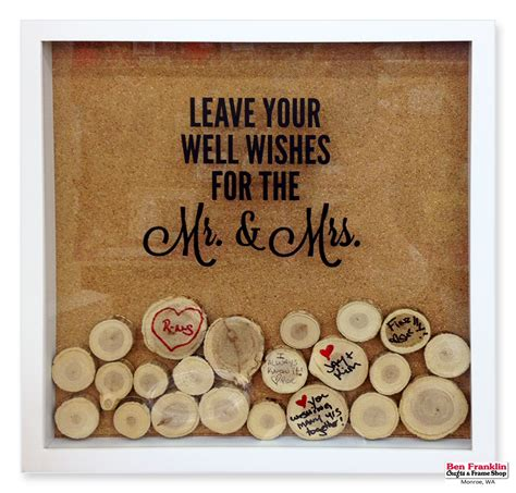 Wedding Wishes Display by Ben Franklin Crafts And Frame Shop Wa Diy