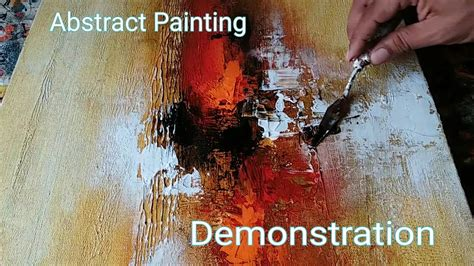 Texture Painting Techniques Acrylic - abstract painting demonstration of easy abstract painting in acrylics textured youtube