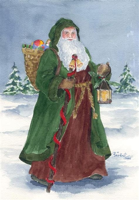 images of christmas father old world father christmas print by barbel amos