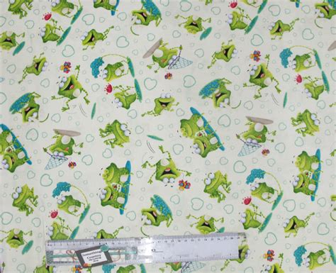 Patchwork And Quilting Fabrics - patchwork quilting sewing fabric frog land allover