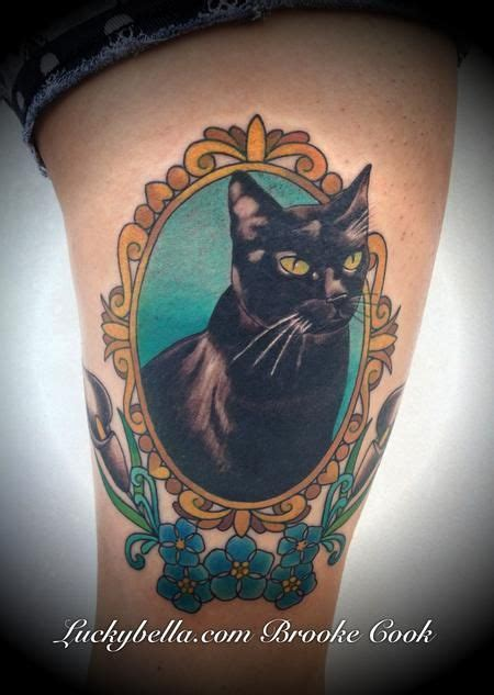 Best 25 Cat Portrait Tattoos Ideas On Pinterest Cat School Cat Tattoos