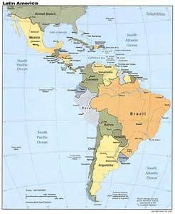 south america map maps map of central and south america