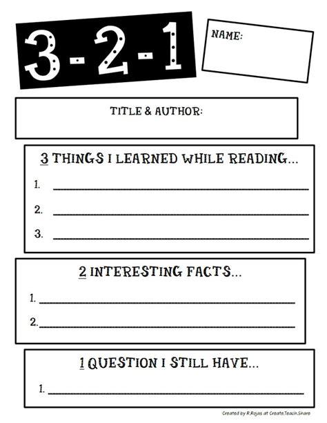3 2 1 strategy template 3 2 1 pdf google drive literacy ideas pinterest