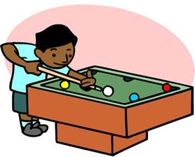 boys play at pool table clipart the cliparts