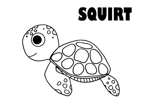 nemo squirt coloring pages 301 moved permanently