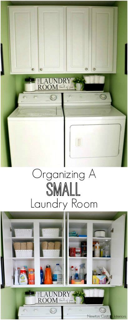 how to a small organizing a small laundry room newton custom interiors