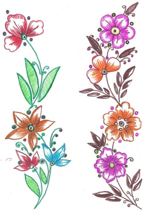 flower design for painting art n craft fabric paint designs