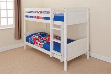 white wood bunk beds with mattresses wooden bunk bed childrens single pine or white 3ft christopher 2 mattress ebay