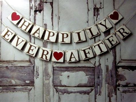HAPPILY EVER AFTER Banner   Wedding Reception Signs