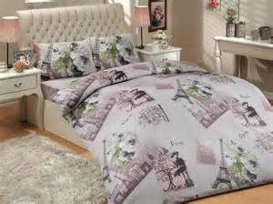 Eiffel tower bedding comforter sets for teens
