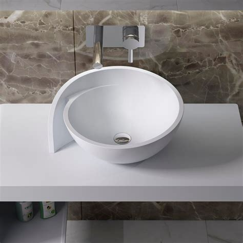 bathrooms sinks with countertop countertop solid surface stone resin glossy bathroom sink