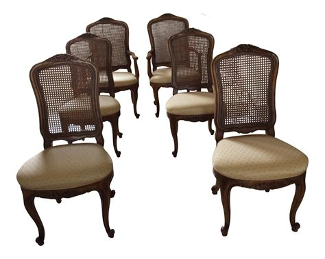henredon provincial back dining chairs 6
