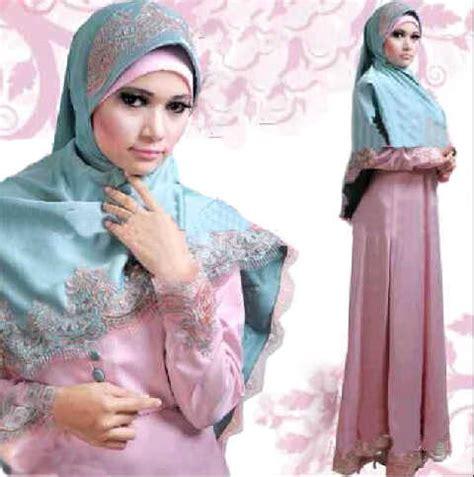 Syarii Batik Biru 20 model baju muslim lebaran 2016 modis trendy