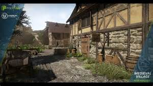 Blueprints Houses medieval village by polypixel in environments ue4