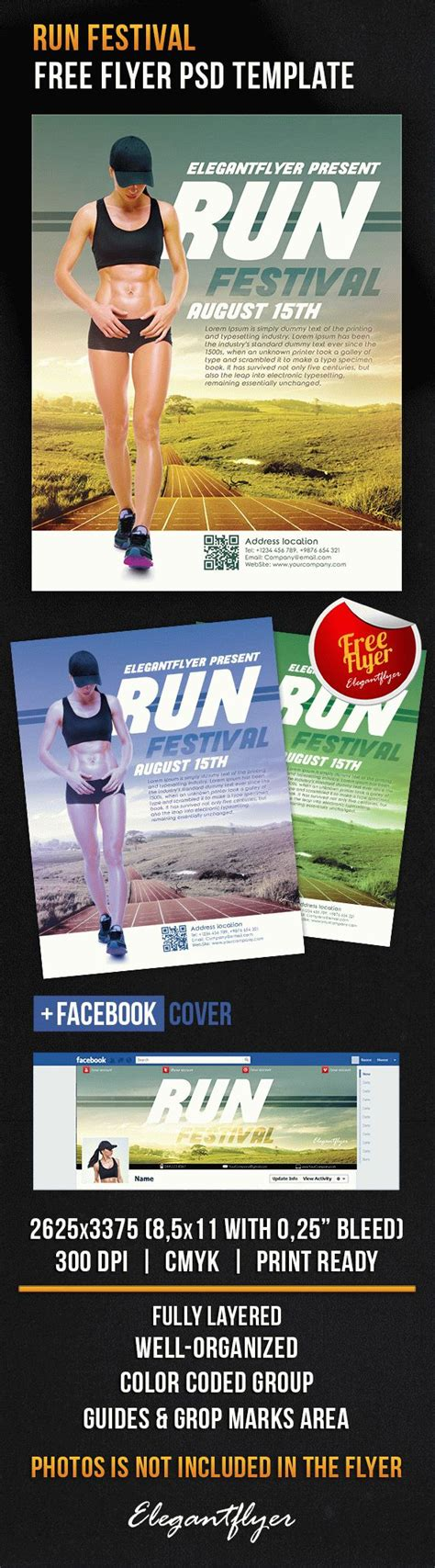 Free Run Festival Facebook Cover Photoshop Flyer Template Flyershitter Com Run Flyer Template Free
