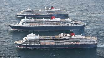 cunard queen elizabeth 2 ship position qe2 news luxury liners meet in southton to mark cunard s 175th