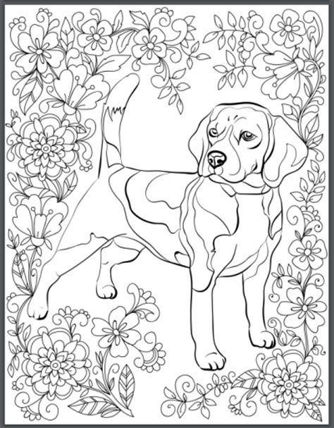 coloring pages of dogs for adults de stress with dogs downloadable 10 page coloring book