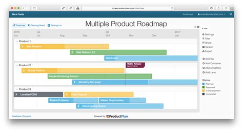 3 exle roadmaps for product managers