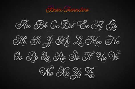 tattoo fonts free design ababil script standard font by mikrojihad creative fabrica