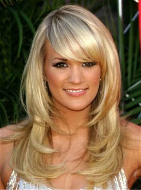 haircuts with side bangs and layers long layered hairstyles with side swept bangs cool