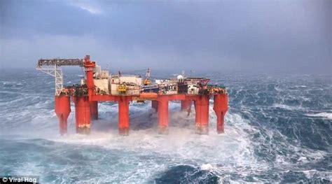 are hurricane boats good quality north sea oil rig stays afloat despite massive storm