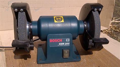 bench grinder bosch электроточило наждак точильный станок bosch gsm 200 bench