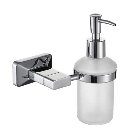 soap dispensers for bathrooms luxury brass glass chrome liquid soap dispenser hand