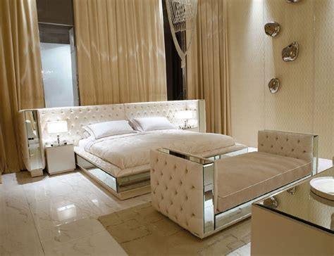 hollywood luxe italian designer leather bed  luxury