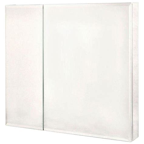 frameless mirrored medicine cabinet pegasus 30 in x 30 in frameless recessed or surface