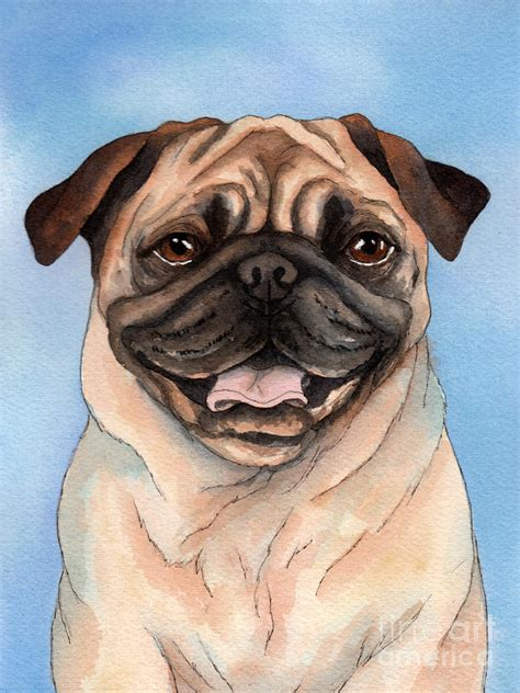 pug painting pug painting by cherilynn wood