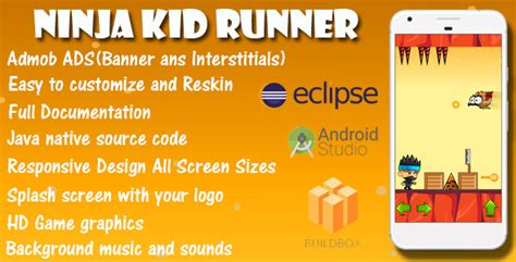 game templates for android ninja kid runner game template android with admob