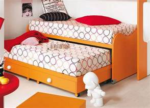 nuvola children s bed with pull out spare bed modern