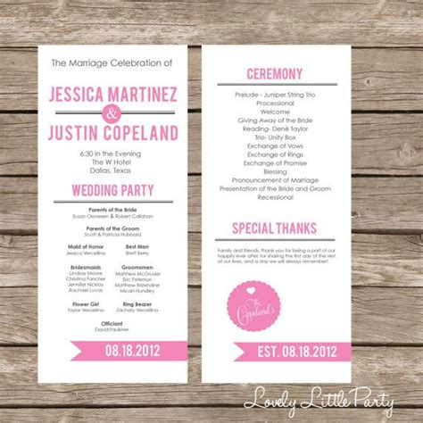 25 best wedding programs simple ideas on pinterest