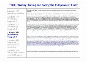 toefl writing templates toefl ibt essay writing timing and pacing for the