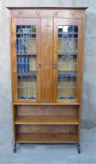 arts and crafts bookshelves arts and crafts bookcase with stained glass doors