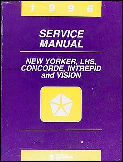 service and repair manuals 1996 chrysler concorde parking system 1996 vision concorde lhs new yorker intrepid repair shop manual original