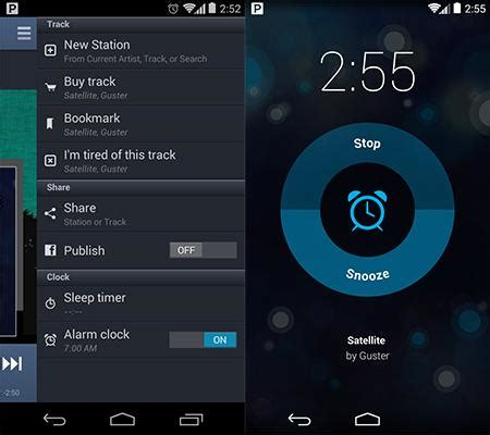 pandora for android pandora for android adds alarm clock functionality at last pcmag