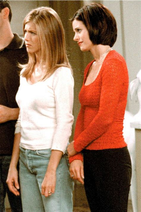 rachel monica wedding hairstyle 21 best monica geller s hair was perfect images on