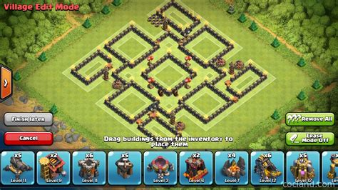 layout for th9 nine lives marvelous th9 de protection base layout