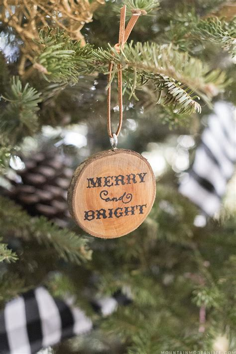 cabin inspired christmas ornaments mountain modern life