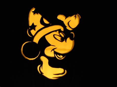 sorcerer mickey mouse pumpkin carving design enblow